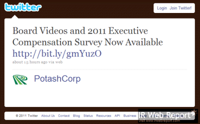 PotashCorp announces compensation survey in a tweet