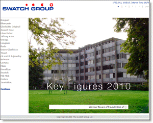 Swatch Homepage