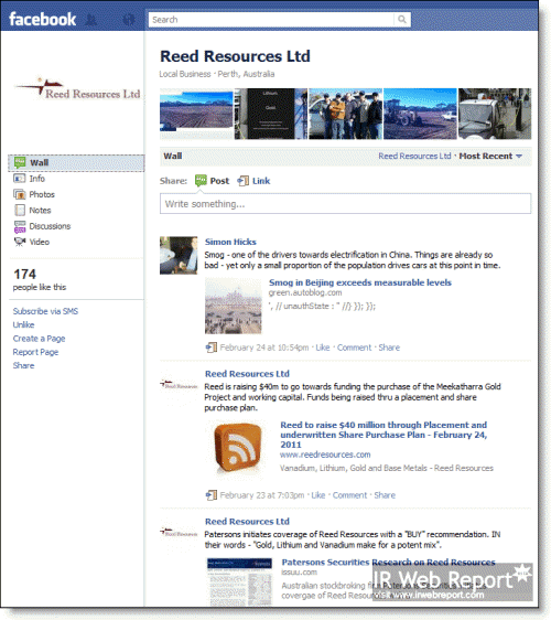 Reed Resources Facebook Page