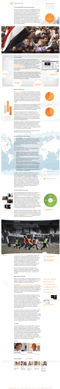 Thomson Reuters 2010 online annual report