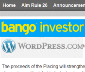 At Bango, an IR website budget of $4.75 per month