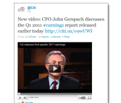 How Citigroup uses social media in its quarterly reporting
