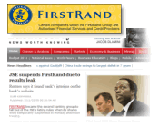 Reuters leaks FirstRand's earnings, web firm in spotlight