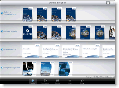 Zurich Financial Services Ipad app