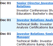 A new investor relations jobs board for IR Web Report