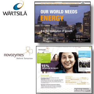Wartsila and Novozymes 2010 online annual reports leading the way