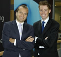 Telenor IR directors Erling Thune (left) and Tolle Groeterud --