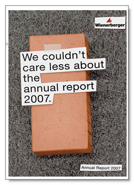Wienerberger cover image: We couldn't care less about the annual report 2007