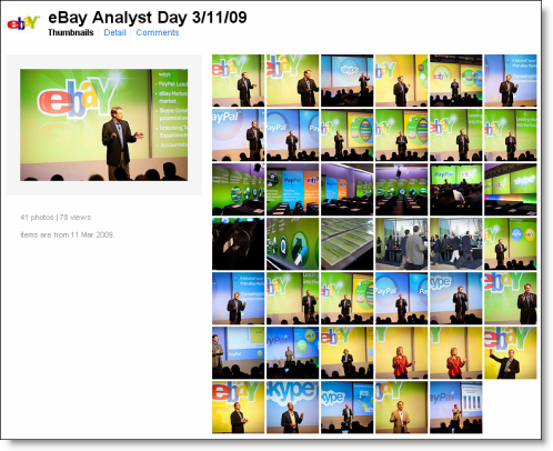 Tweets on Twitter Search with the #ebayinc hashtag